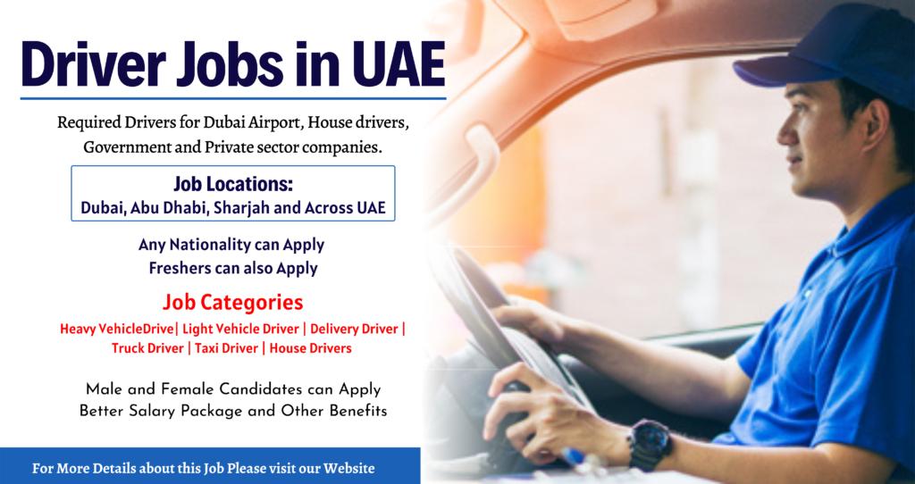 Driver Jobs in UAE